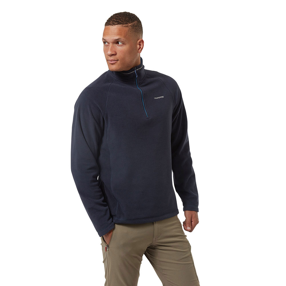 Craghoppers Mens Corey Half Zip Mico Fleece Jacket L - Chest 42 (107cm)