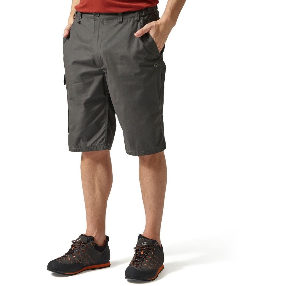 Craghoppers Mens Kiwi Polycotton Long Summer Walking Shorts 30 - Waist 30 (76cm)