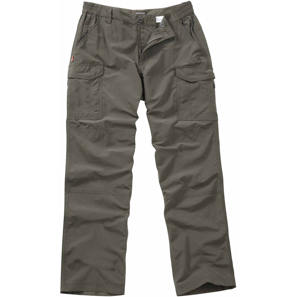 Craghoppers Mens NosiLife Cargo Travel Trousers Green