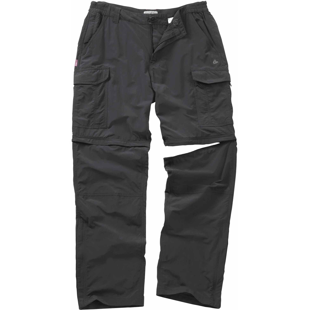 Craghoppers Mens NosiLife Convertible Walking Trousers Black