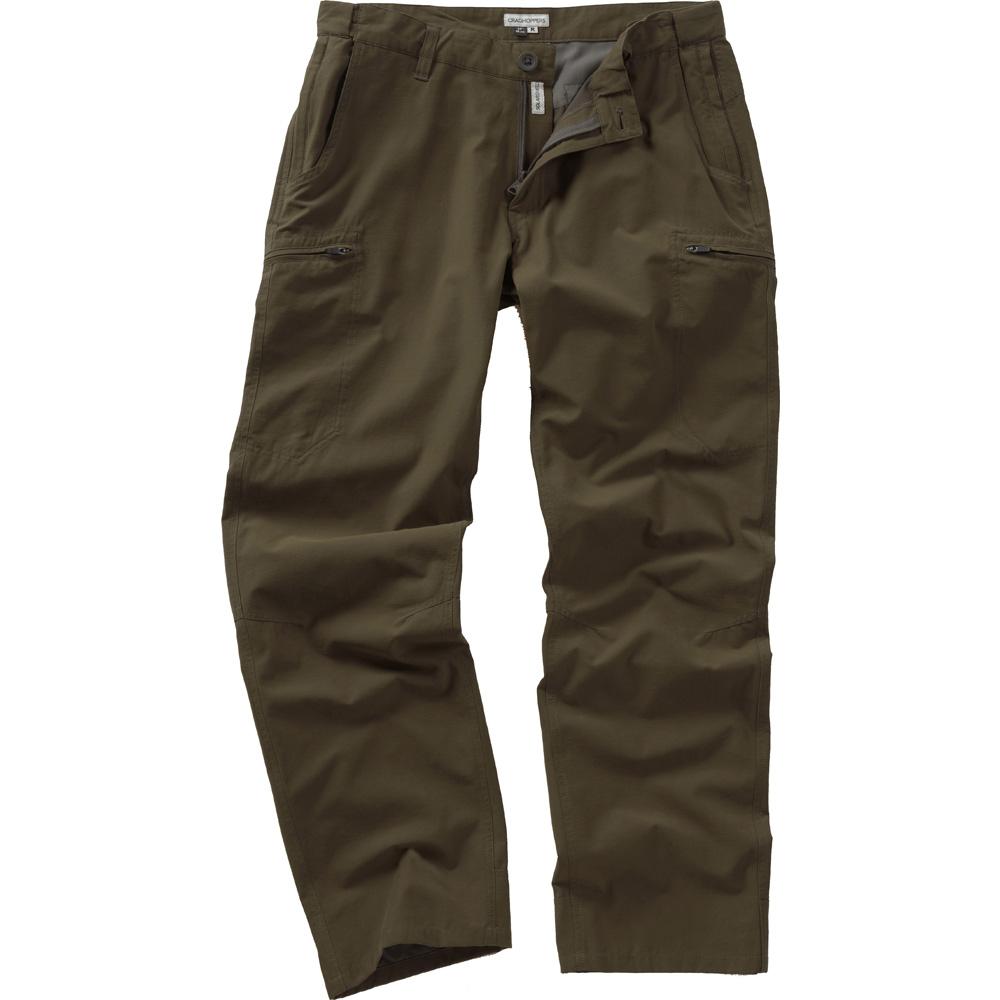 Craghoppers Mens Kiwi Trek Outdoor Walking Trousers Brown