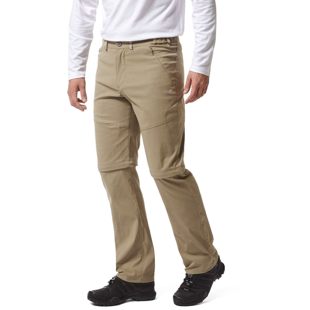 Craghoppers Mens Classic Kiwi Solarshield Polycotton Walking Trousers 28s - Waist 28 (71cm)  Inside Leg 29