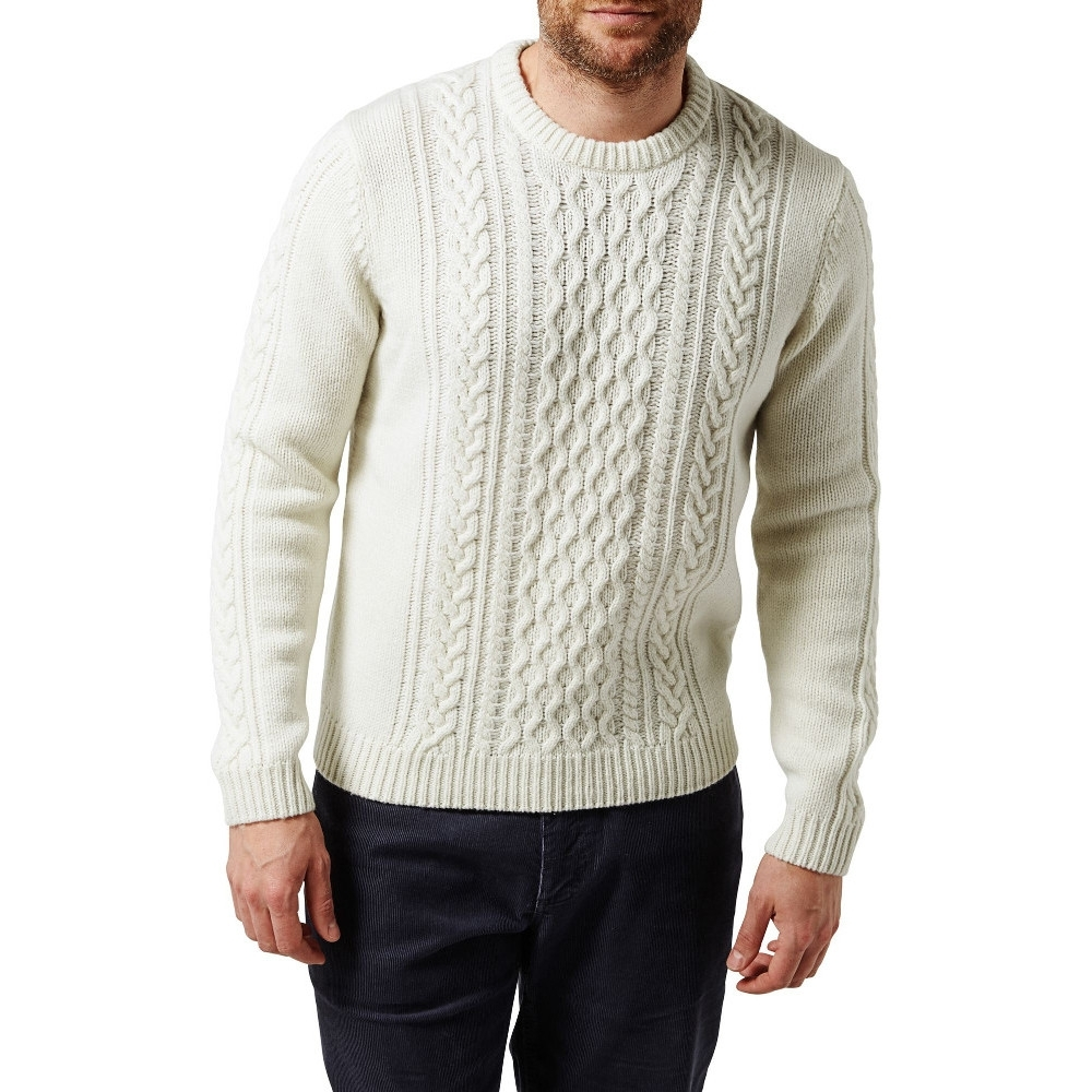 Craghoppers Mens Aron Knitted Lambs Wool Crew Neck Jumper
