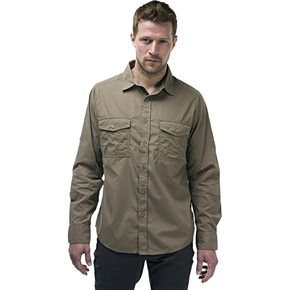 Craghoppers Mens Kiwi Long Sleeve Polycotton Solar Shield Travel Shirt Xxl - Chest 46 (117cm)