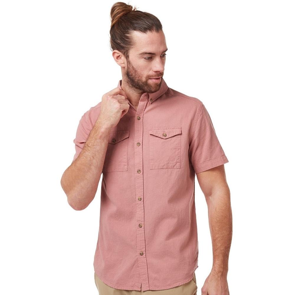 Craghoppers Mens Kiwi Linen Lightweight Short Sleeve Shirt L - Chest 42 (107cm)