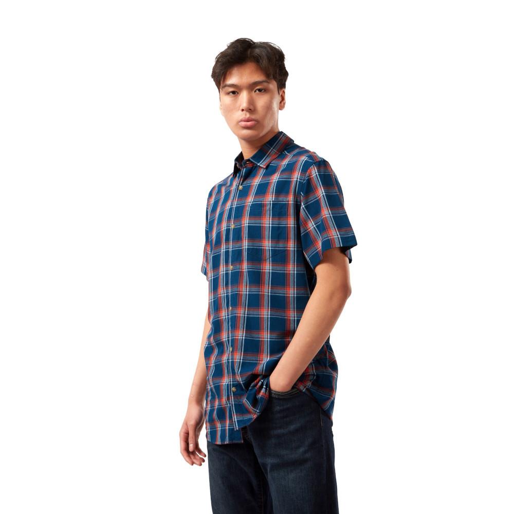 Craghoppers Mens Rafie Short Sleeved Lightweight Check Shirt L - Chest 42 (107cm)