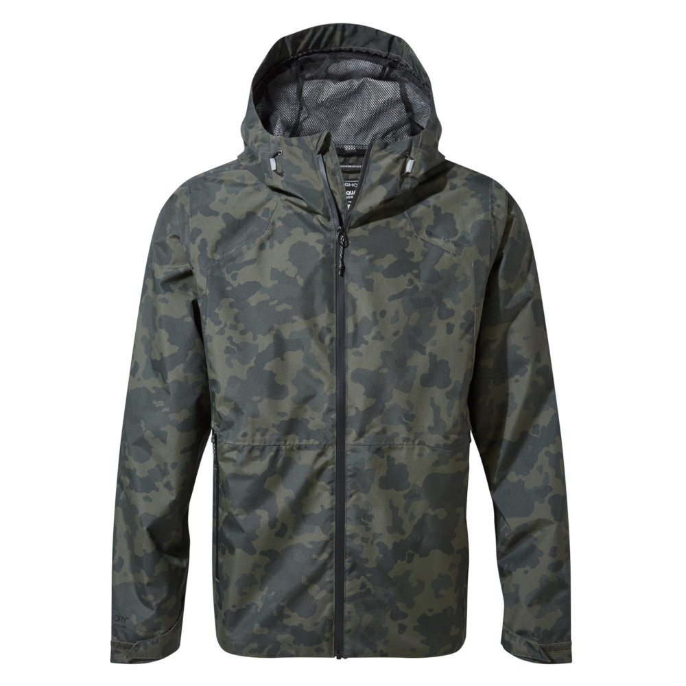 Image of Craghoppers Mens Balla Hooded Waterproof Polyester Jacket M - Chest 40' (102cm)