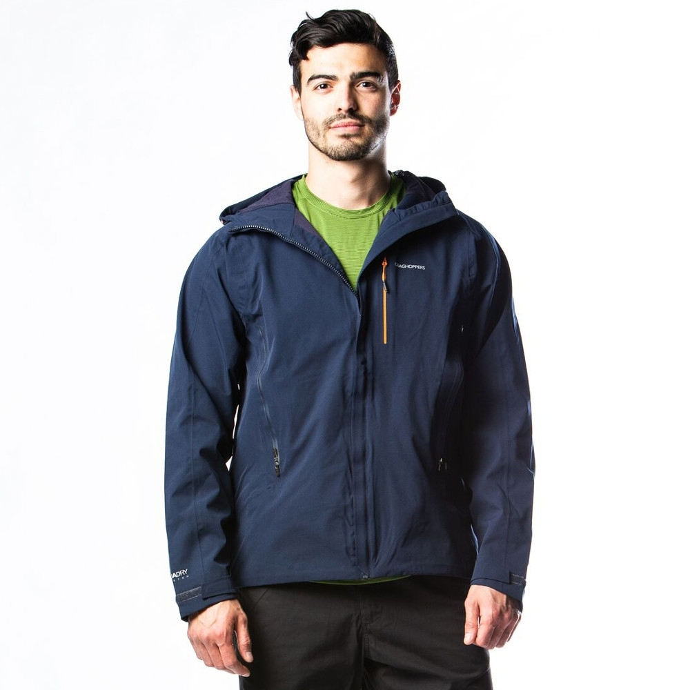 Craghoppers Mens Explore Waterproof Breathable Hooded Jacket Xxl - Chest 46 (117cm)