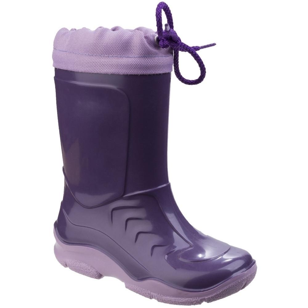 Cotswold Boys Stripe Mid Height Flexible Wellington Boots Uk Size 11 (eu 30)