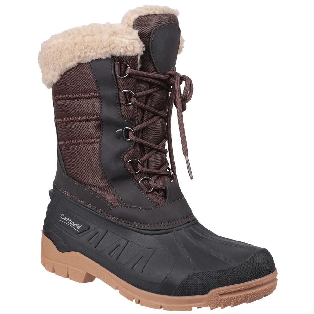 Image of Cotswold Womens Coset Waterproof Fleece Lined Snow Boots UK Size 4 (EU 37)