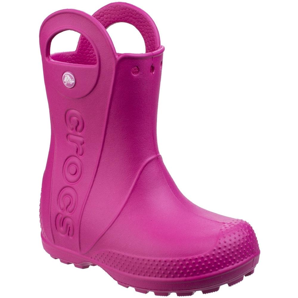 Image of Crocs Boys & Girls Handle It Rain Waterproof Wellies Wellington Boots UK Size 11 (EU 28-29 US C11)