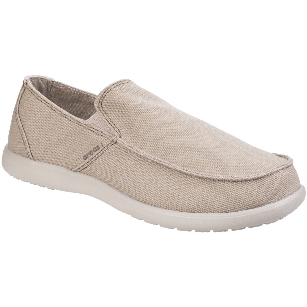 Image of Crocs Mens Santa Cruz Clean Cut Slip On Comfortable Loafer Shoes UK Size 8 (EU 42-43 US 9)