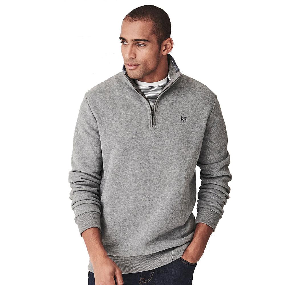 Crew Clothing Mens Classic Half Zip Sweatshirt Smart Casual L - Chest 42-43.5