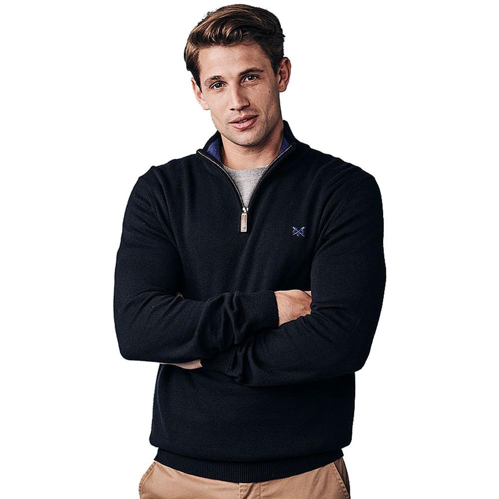 Crew Clothing Mens Classic Half Zip Pullover Sweatshirt Xxl - Chest 46-48