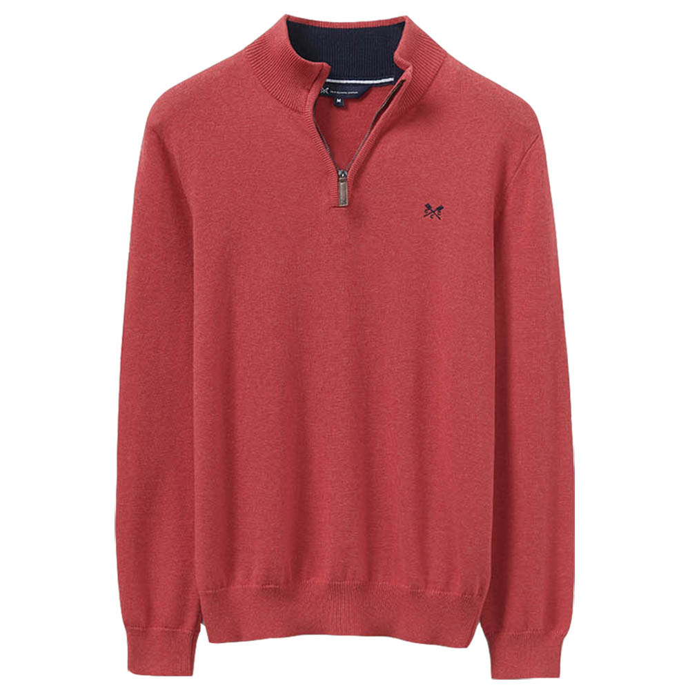 Crew Clothing Mens Classic Half Zip Knit Casual Sweatshirt L - Chest 42-43.5