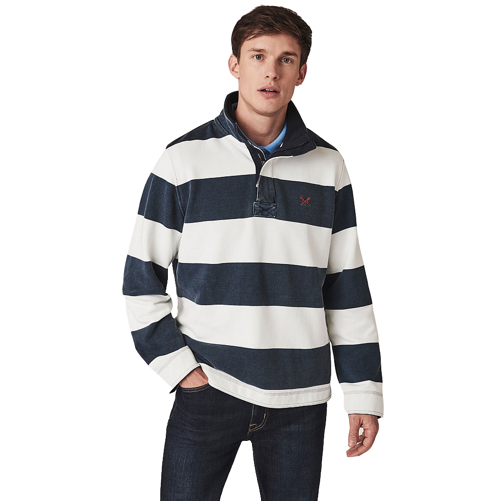 Crew Clothing Mens Padstow Pique Pullover Sweatshirt M - Chest 40-41.5
