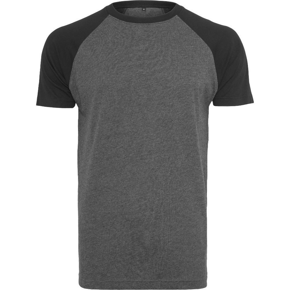Cotton Addict Mens Raglan Contrast Short Sleeve T Shirt 4xl - Chest 52 (132.08cm)