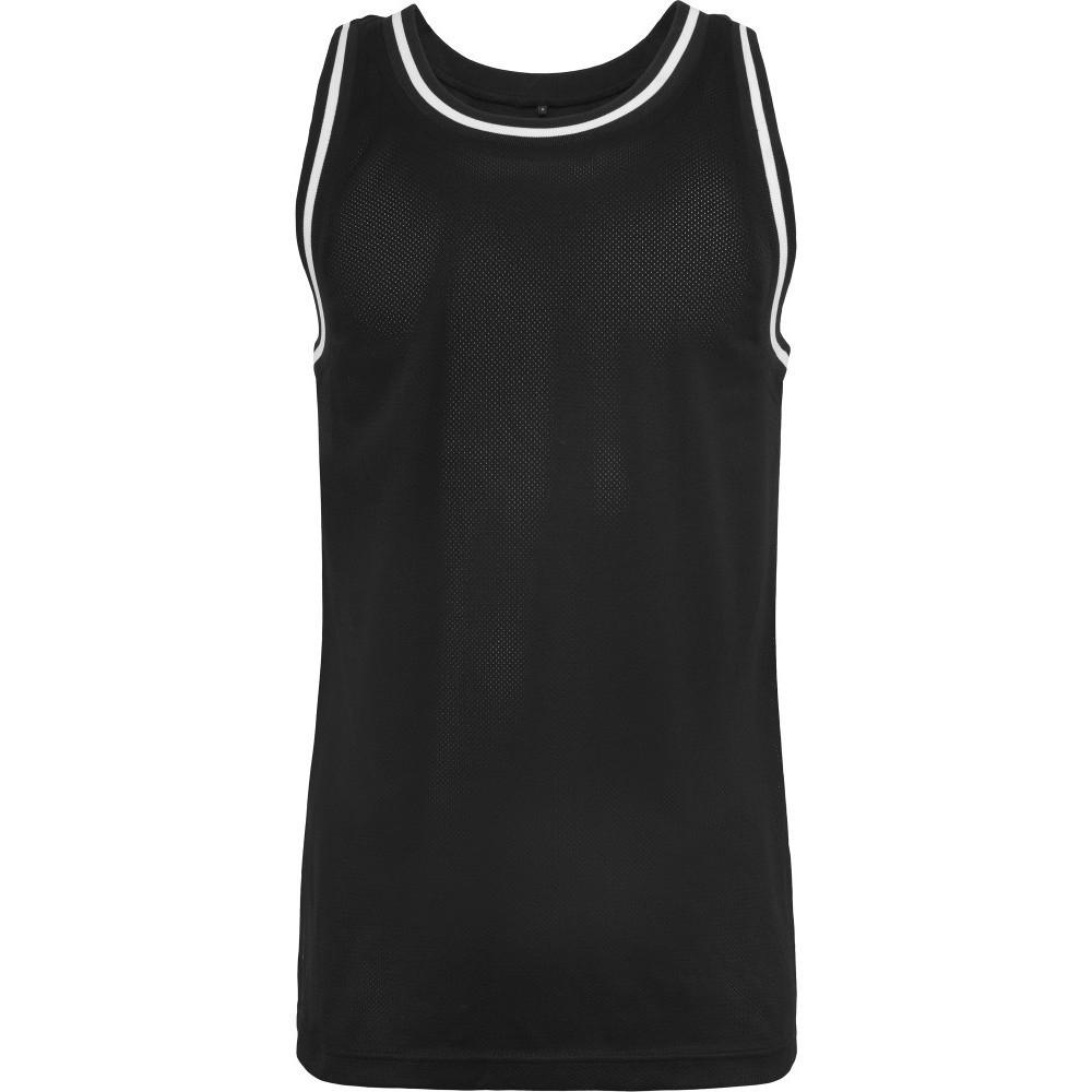 Cotton Addict Mens Mesh Contrast Hem Tank Top Vest Top S - Chest 36 (91.44cm)