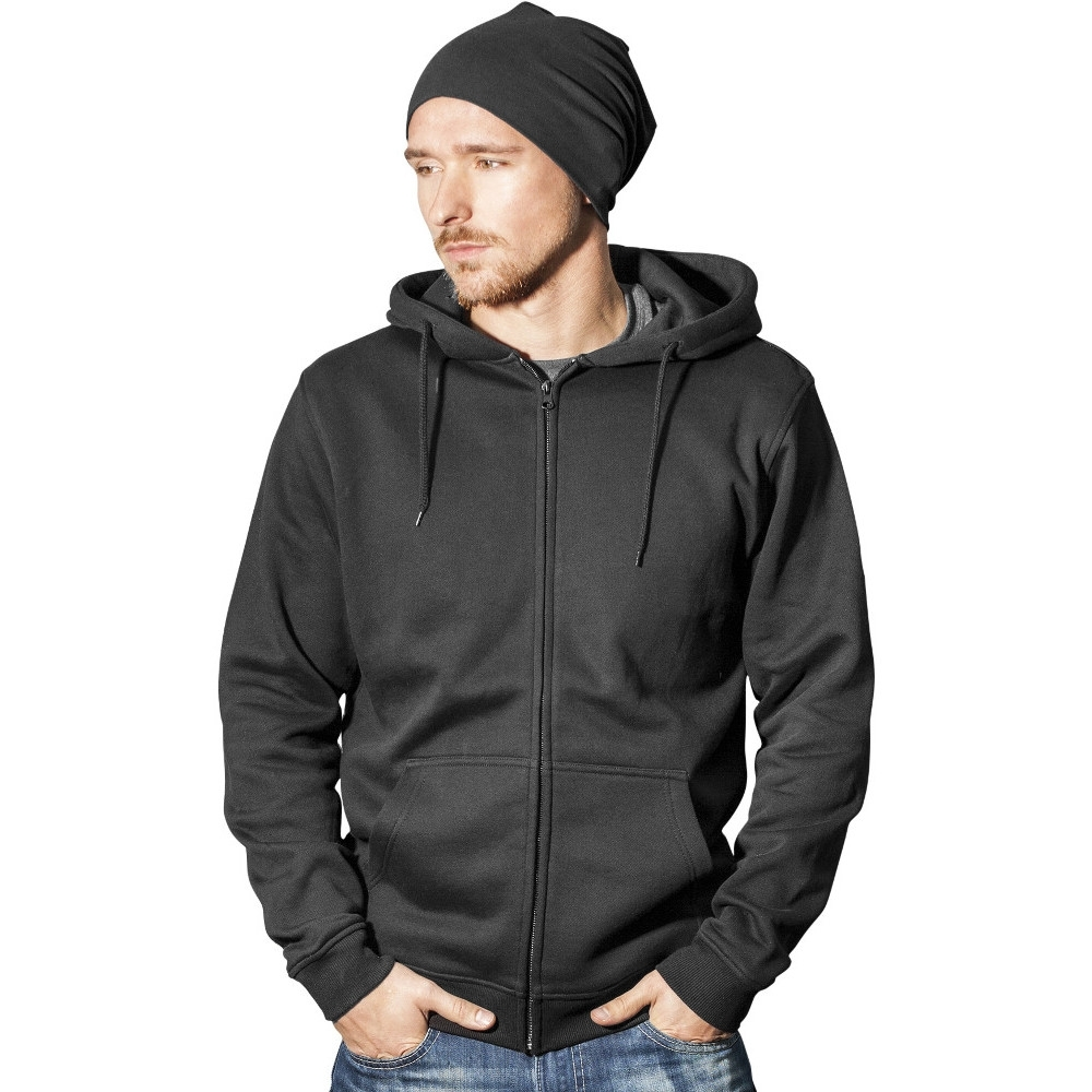 Cotton Addict Mens Heavy Full Zip Cotton Hoodie Jacket L - Chest 48 (121.92cm)