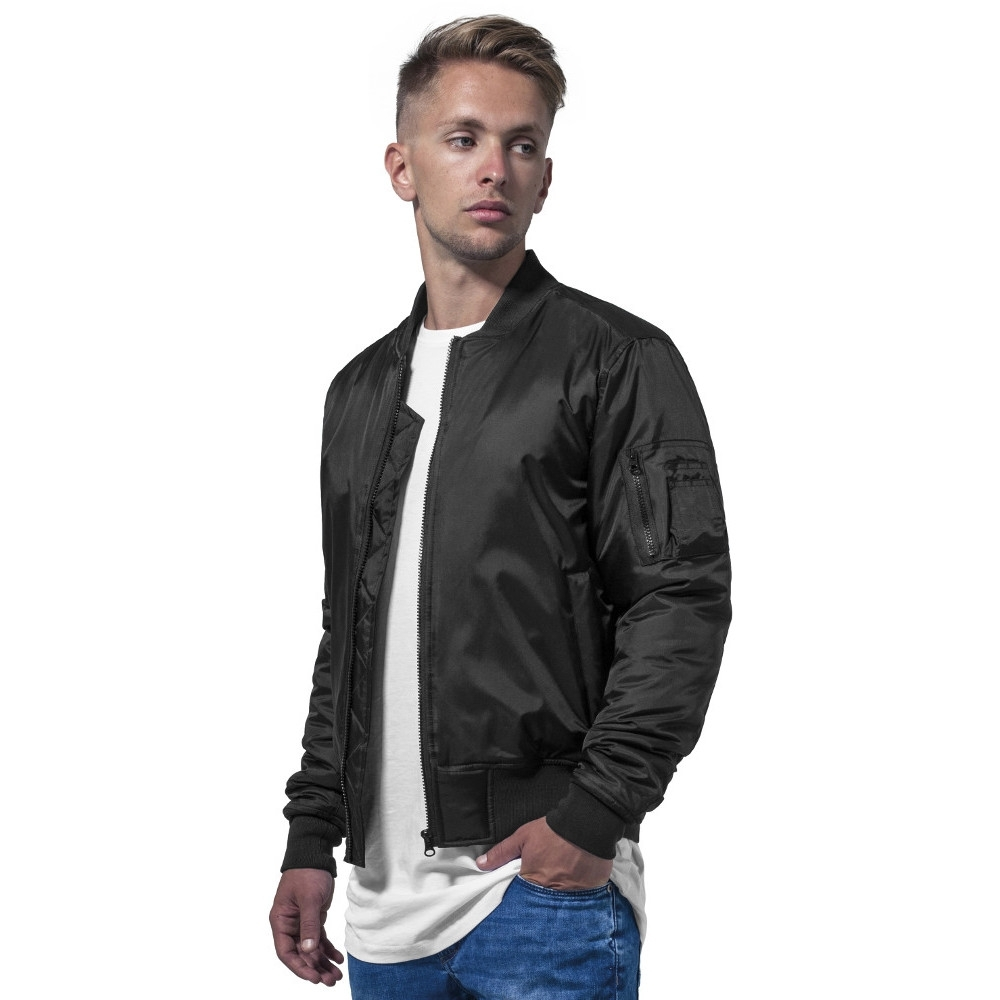 Cotton Addict Mens Contrast Zip Up Casual Bomber Jacket S - Chest 45 (114.3cm)