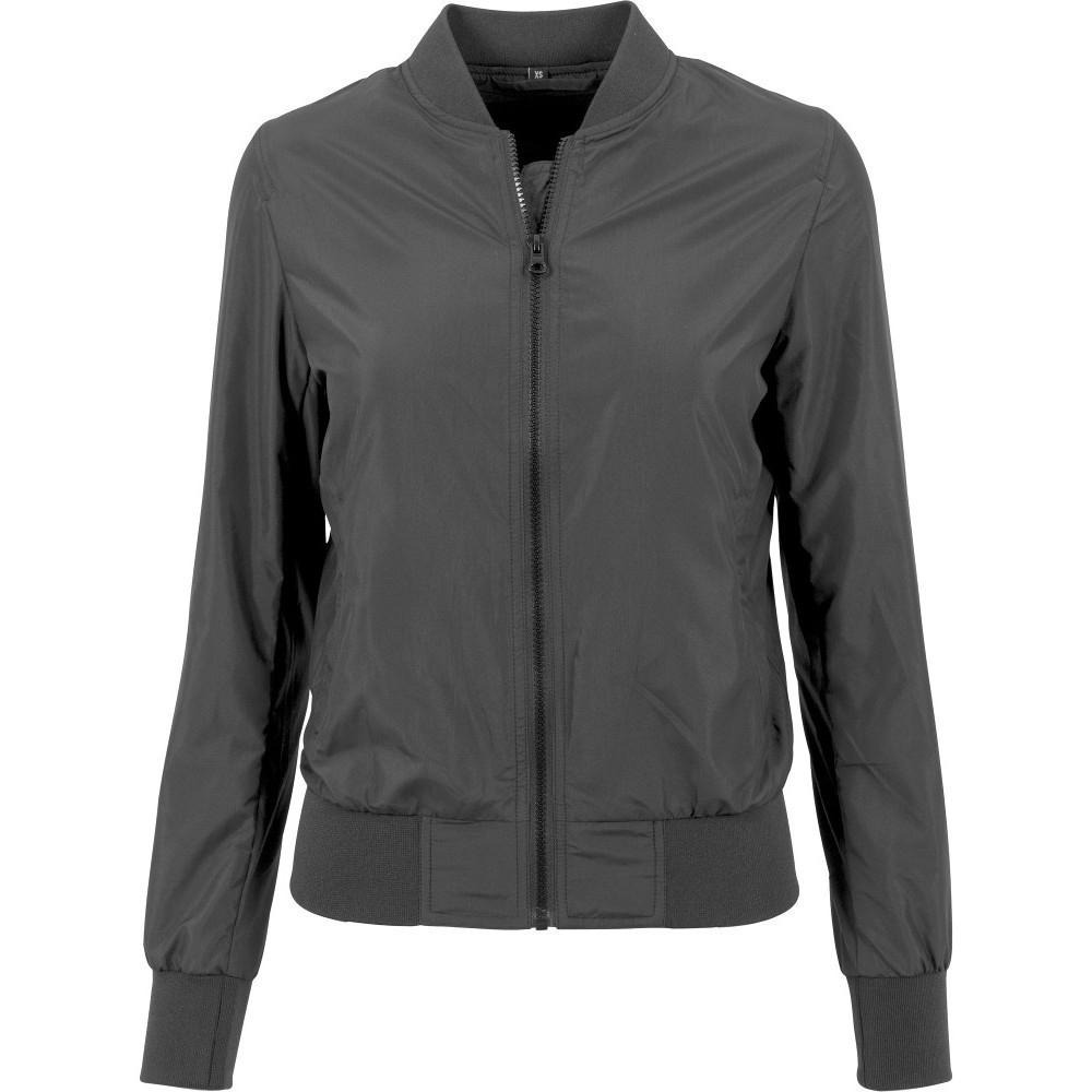 Cotton Addict Womens Nylon Casual Zip Up Bomber Jacket L -