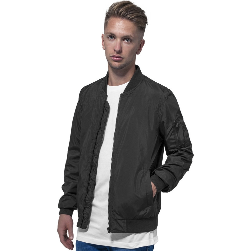 Cotton Addict Mens Polyester Casual Zip Up Bomber Jacket L - Chest 46 (116.84cm)