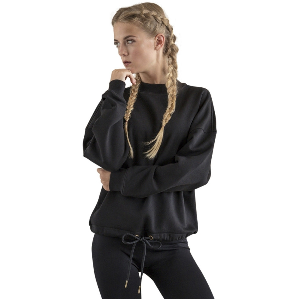 Cotton Addict Womens Oversize Crew Neck Cotton Sweatshirt Xl - Uk Size 16