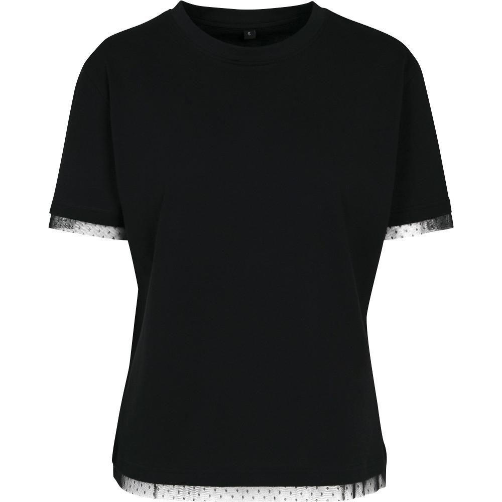 Cotton Addict Womens Laces Cotton Jersey Casual T Shirt 5xl- Uk Size 24