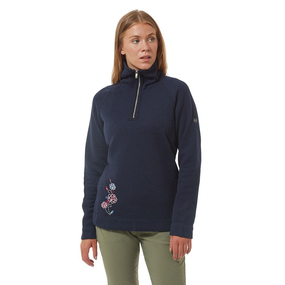 Craghoppers Womens Nina Half Zip Fleece Jacket 14 - Bust 38 (97cm)
