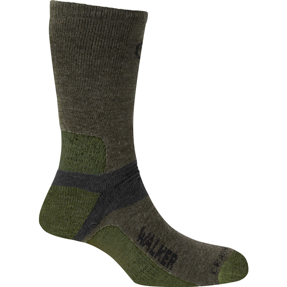 Product image of Craghoppers Ladies Rich Wool Cushioned Walking Socks Green