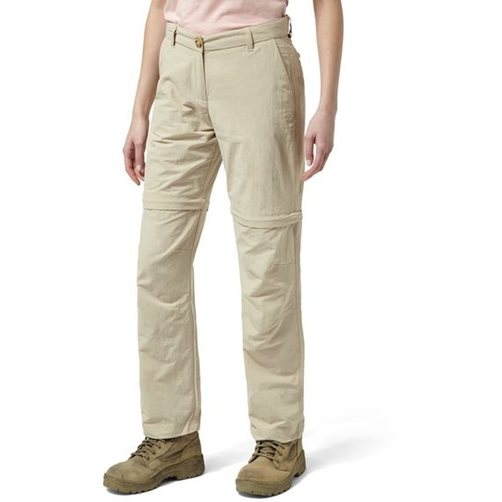 Craghoppers Womens Nosi Life Pro Capri Convertible Trousers 12r - Waist 28 (71cm)  Inside Leg 31