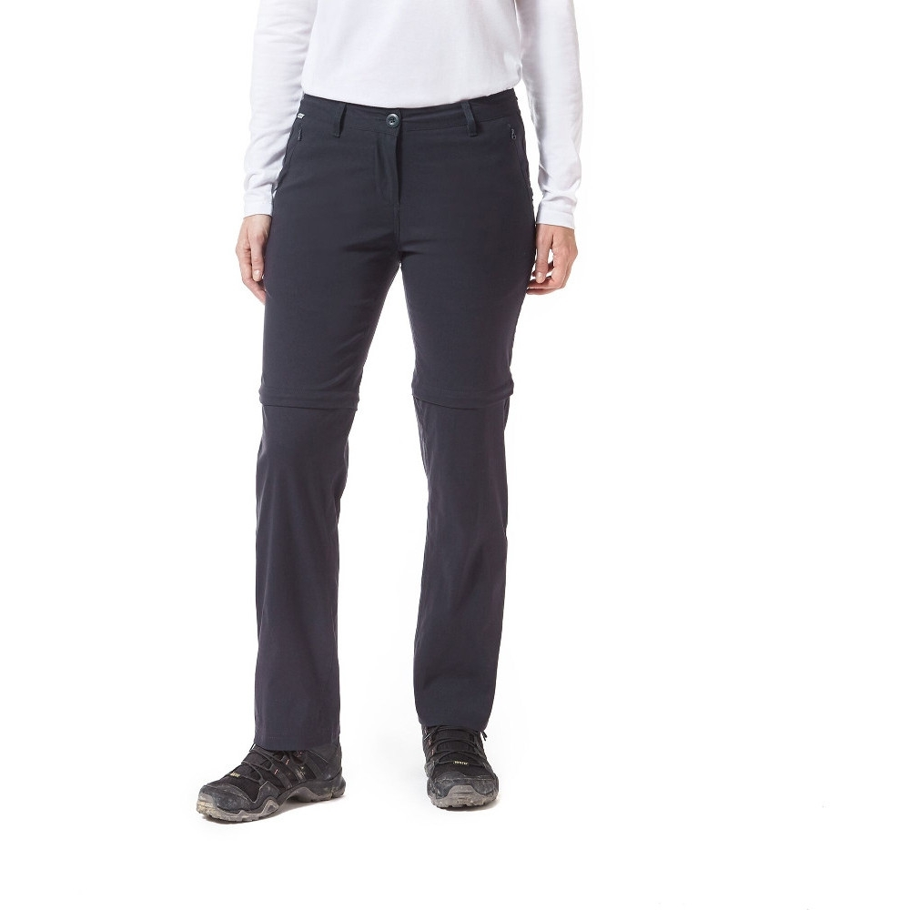 Craghoppers Womens Kiwi Pro Convertible Zip Off Trousers 12l - Waist 28 (71cm)  Inside Leg 33