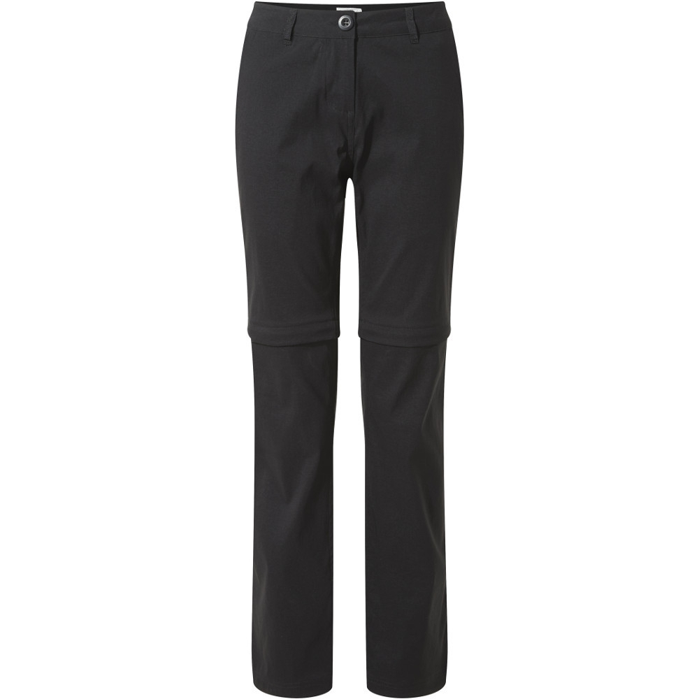 Craghoppers Womens Kiwi Pro Convertible Zip Off Trousers 10r - Waist 27 (69cm)  Inside Leg 31