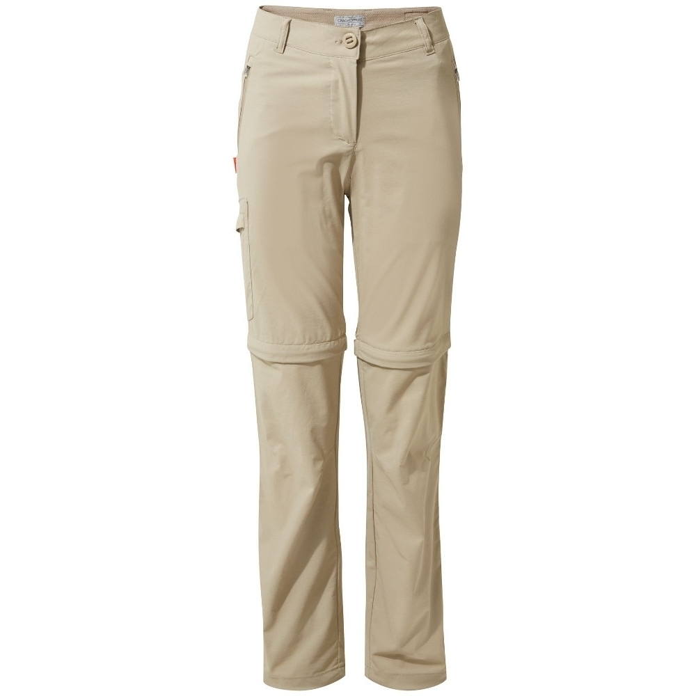 Image of Craghoppers Womens Nosi Life Pro Convertible Zip Off Pants 16R - Waist 32' (81cm) Inside Leg 31'