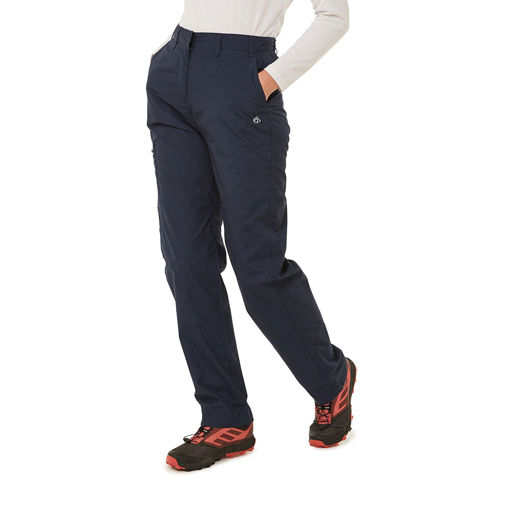 Craghoppers Womens Kiwi Ii Polyester Walking Trousers 12r - Waist 28 (71cm)  Inside Leg 31