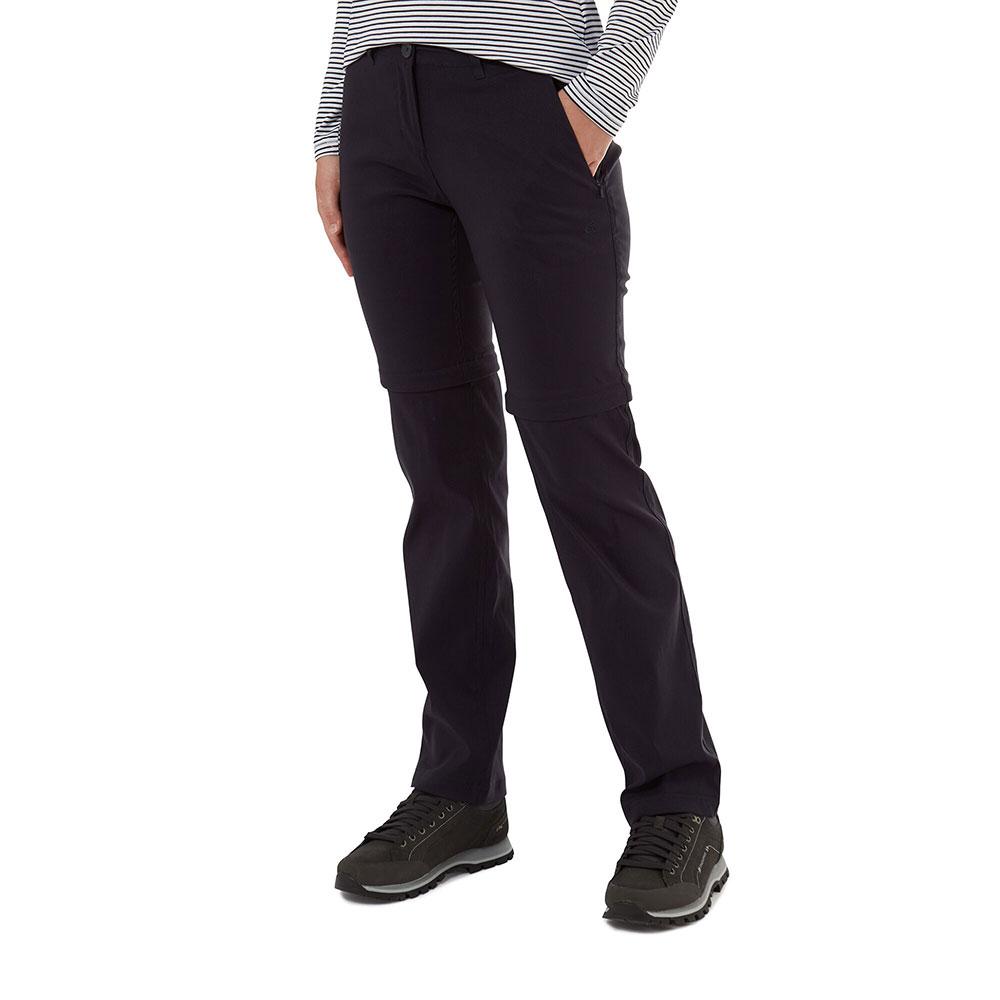 Craghoppers Womens Kiwi Pro Convertible Walking Trousers 8r - Waist 26 (66cm)  Inside Leg 31