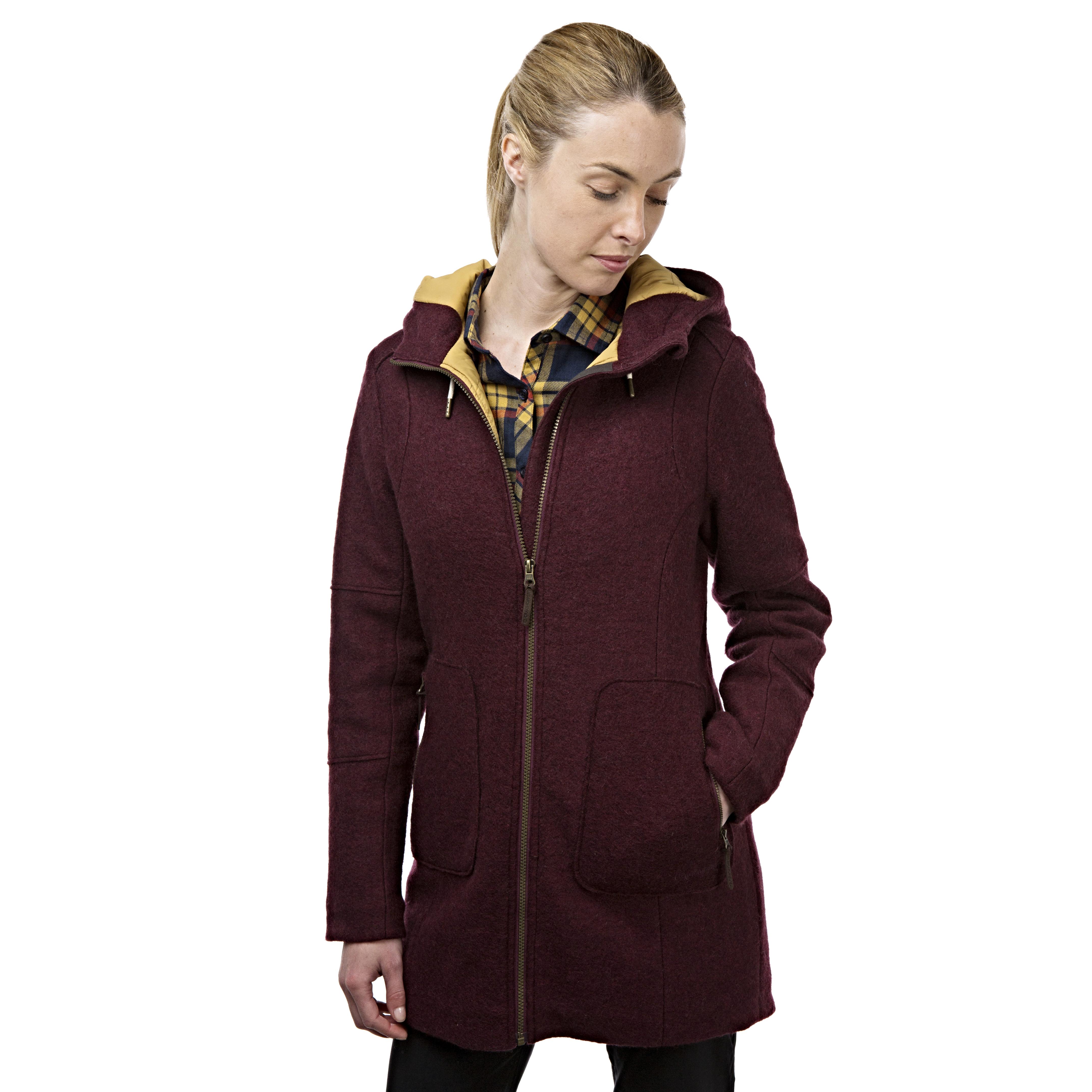 Craghoppers Ladies Hepworth Long Fleece Jacket Red | Bear Grylls ...