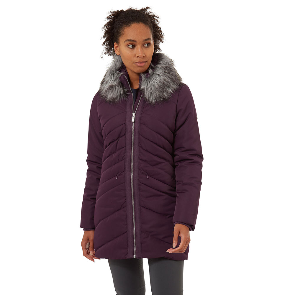 Craghoppers Womens Ardelle Insulated Parka Coat 10 - Bust 34 (86cm)