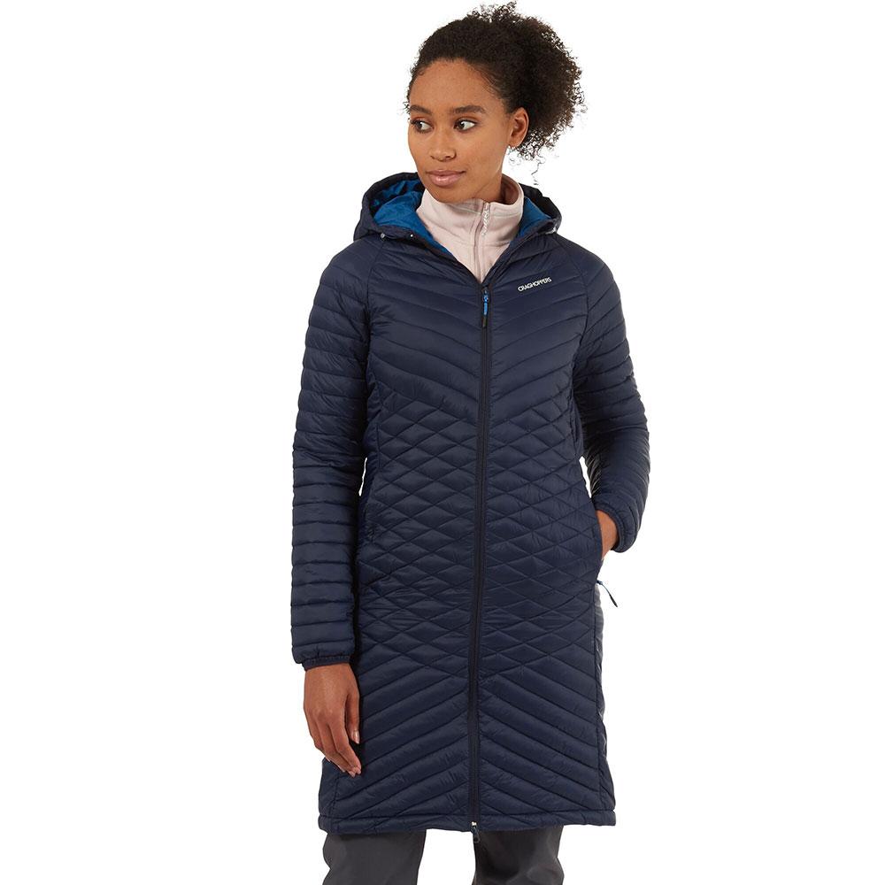 Craghoppers Womens Expolite Long Hooded Parka Jacket Coat 18 - Bust 42 (107cm)