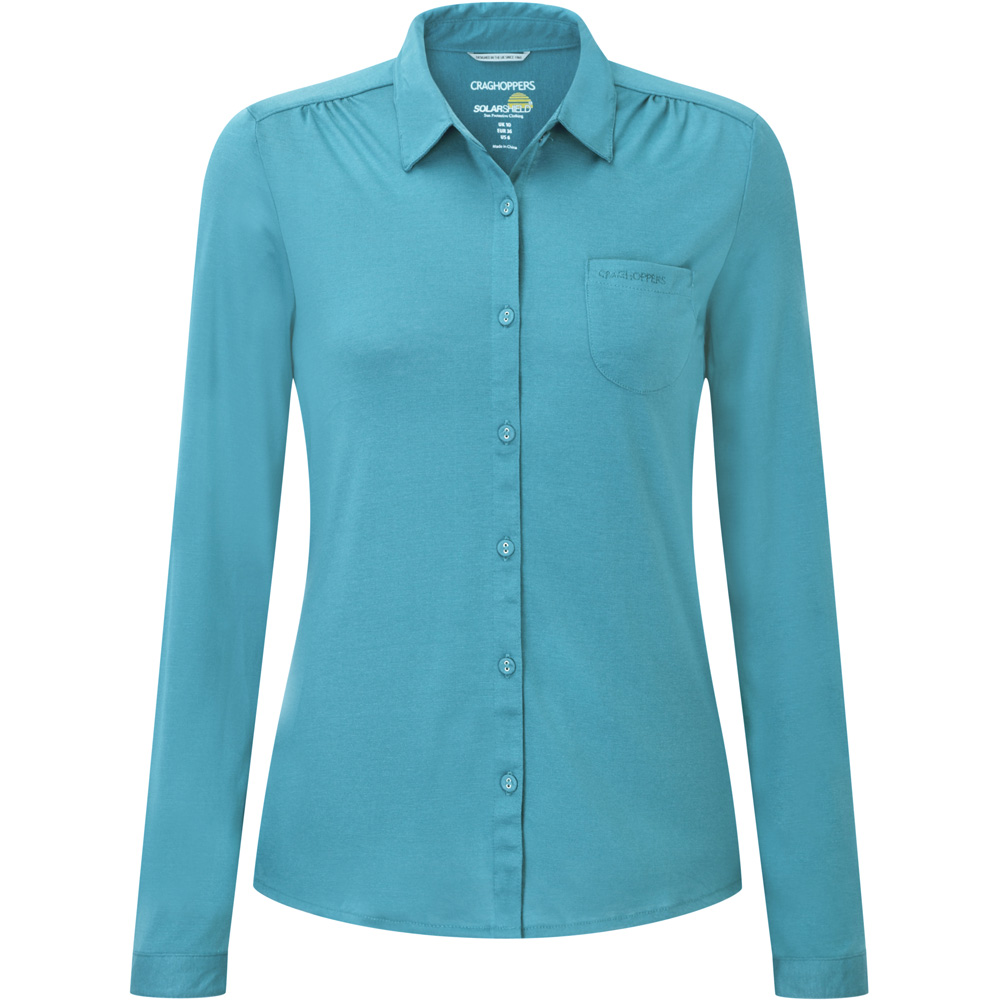 Craghoppers Ladies Kaile Button Short Sleeve Outdoor Shirt