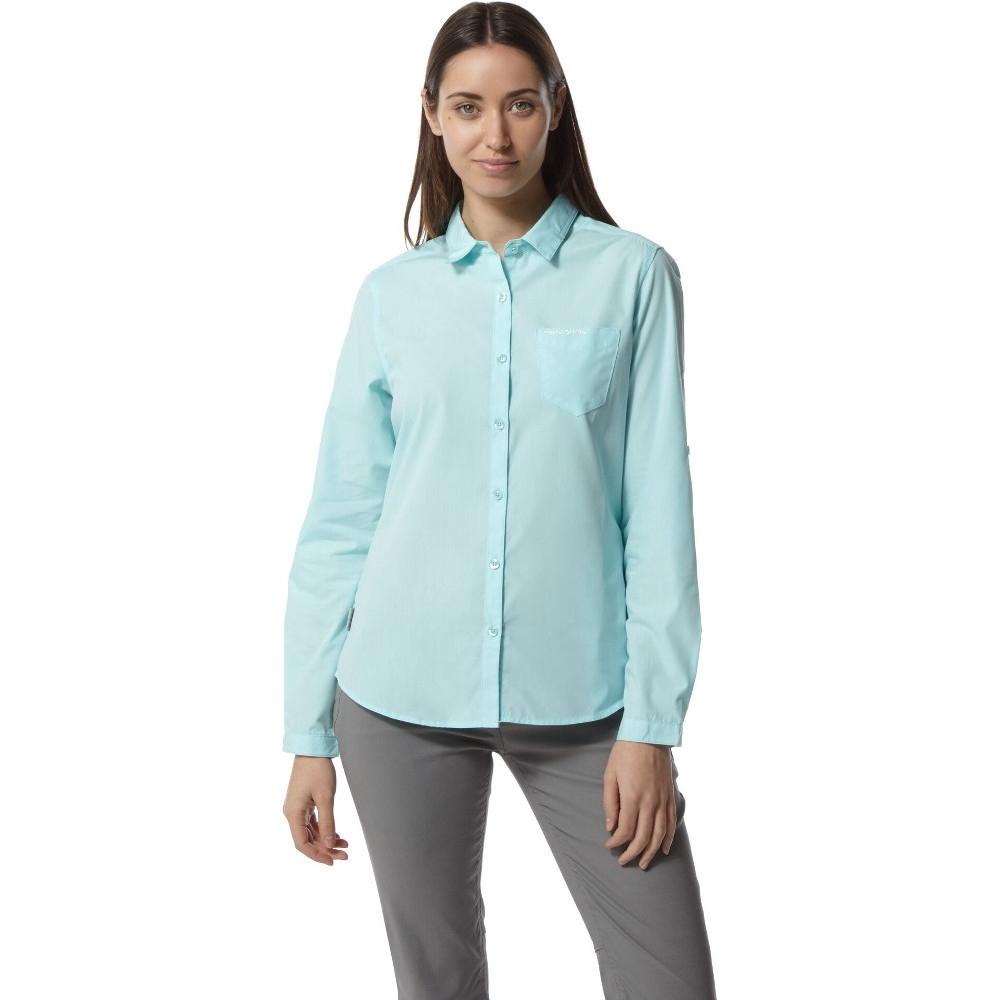 Craghoppers Womens/ladies Kiwi Nosi Long Sleeve Button Shirt 8 - Bust 32 (81cm)