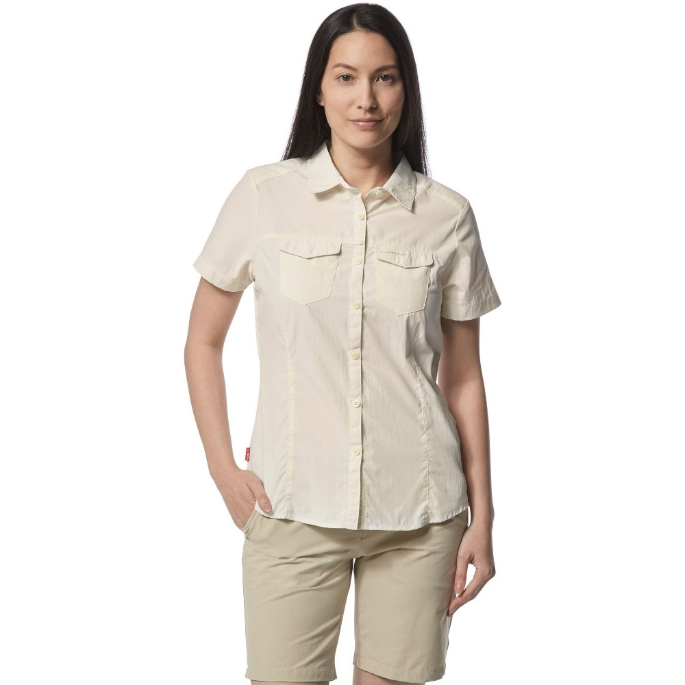Craghoppers Womens Nosi Life Adventure Short Sleeve Shirt 10 - Bust 34 (86cm)