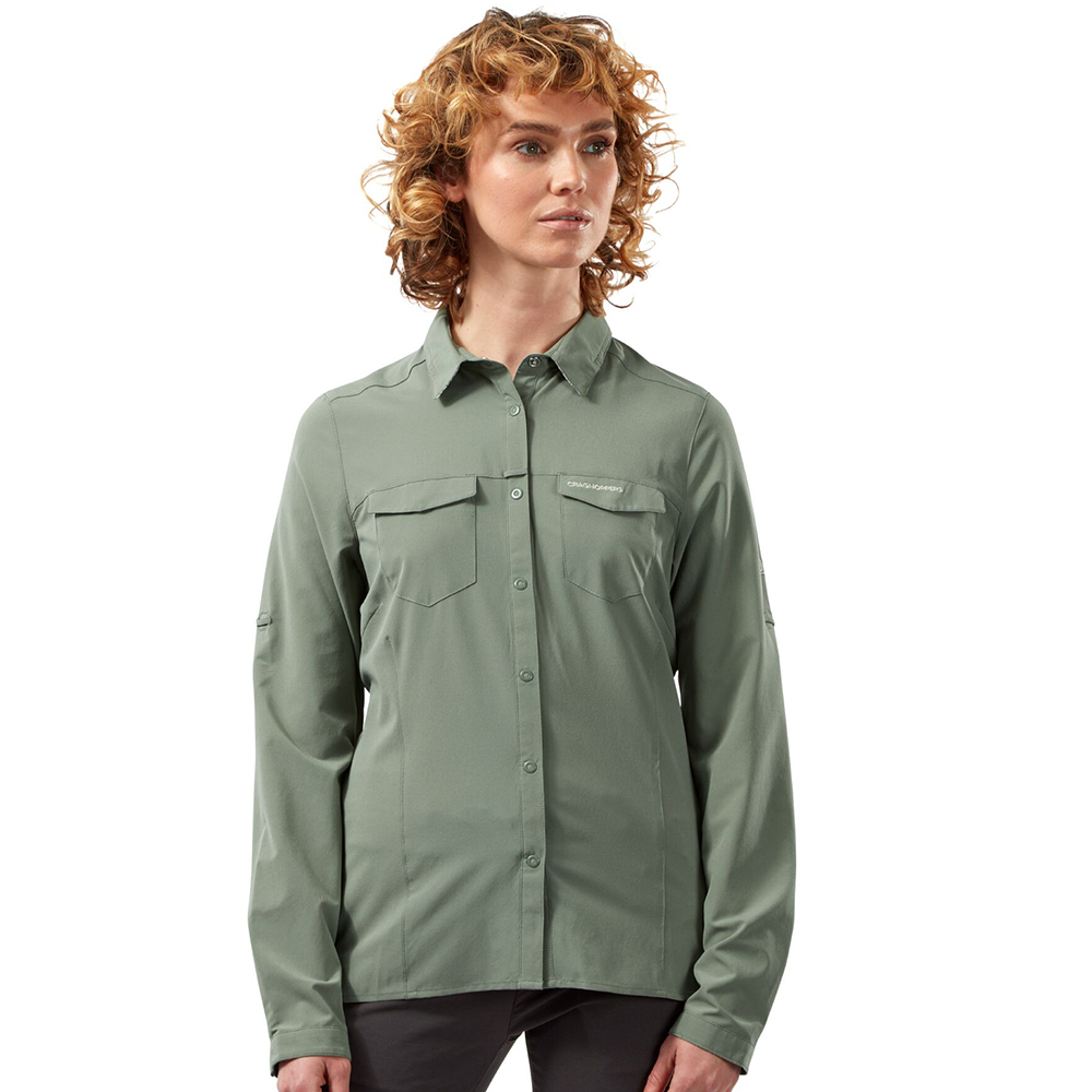 Craghoppers Womens Nosilife Pro Durable Long Sleeve Shirt 20 - Bust 44 (112cm)