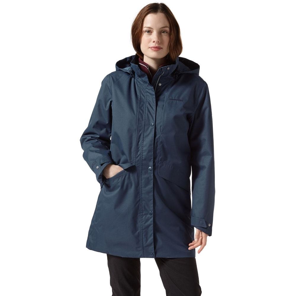 Craghoppers Womens Aird AquaDry Waterproof Hooded Jacket 8 - Bust 32 (81cm)