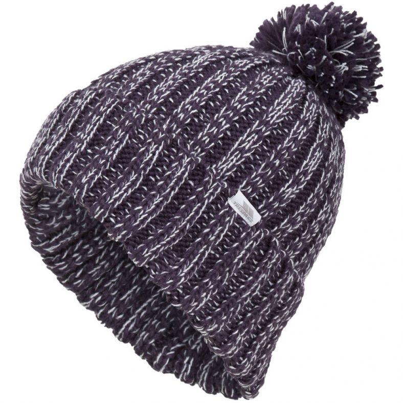 Trespass Womens/Ladies Lockhart Knitted Bobble Beanie Hat ...