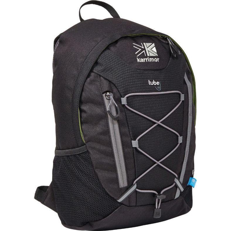 Karrimor Mens Tube 10 Litre Coolmesh Zip Pocket Daysack Backpack   Outdoor  Look