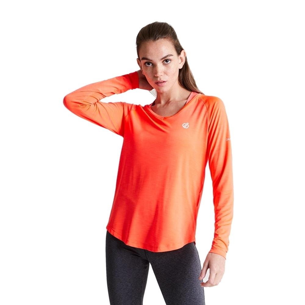 Dare 2b Womens Discern Wicking Long Sleeve Running T Shirt 10 - Bust 34 (86cm)