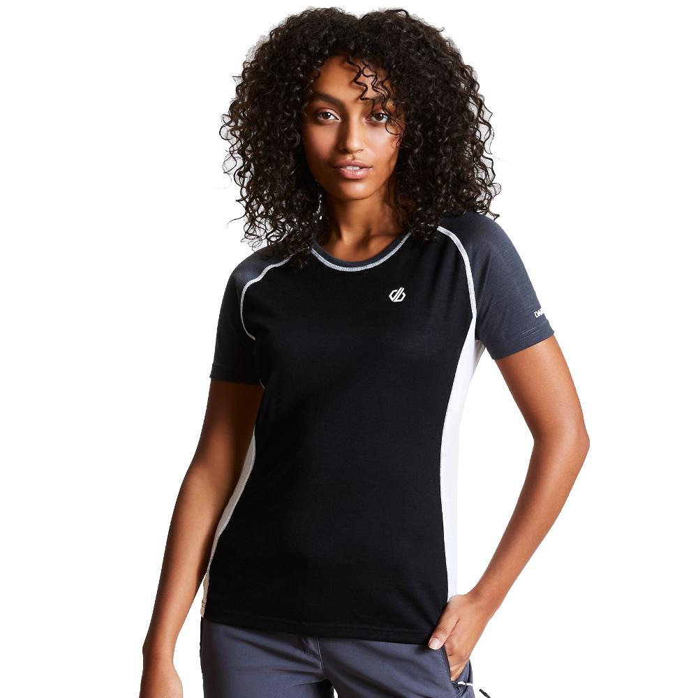 Dare 2b Womens Fixate Wicking Crew Neck T Shirt Tee 8 - Bust 32 (81cm)