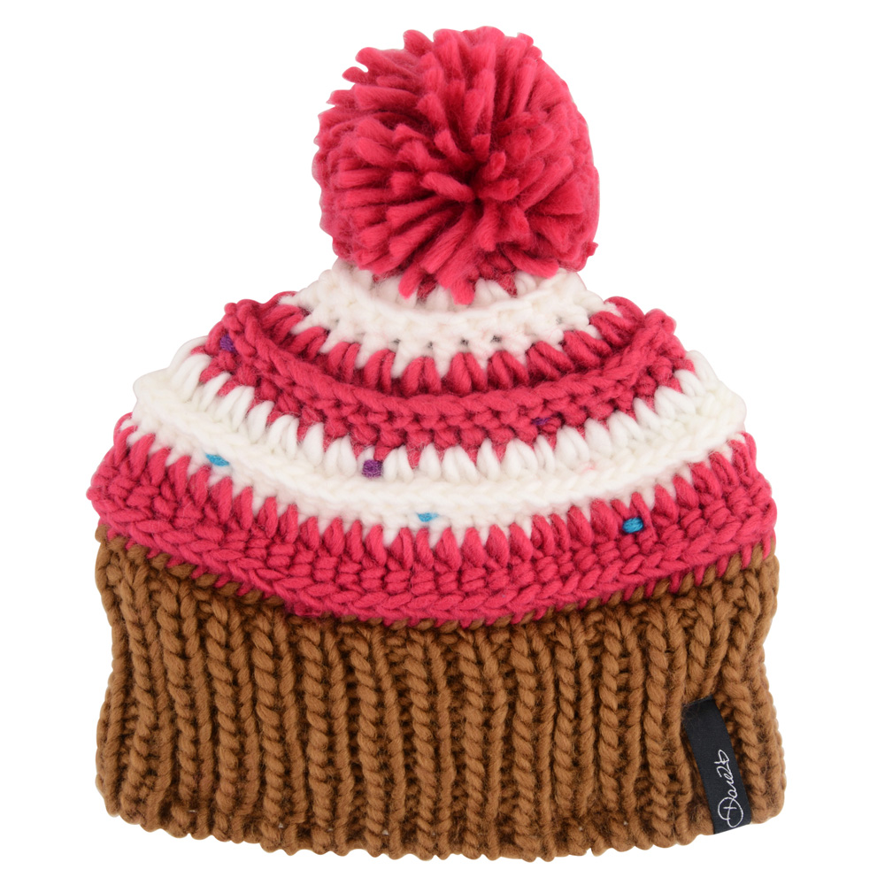 Product image of Dare2b Girls Think Fast Acrylic Knit Fleece Lined Beanie Pink