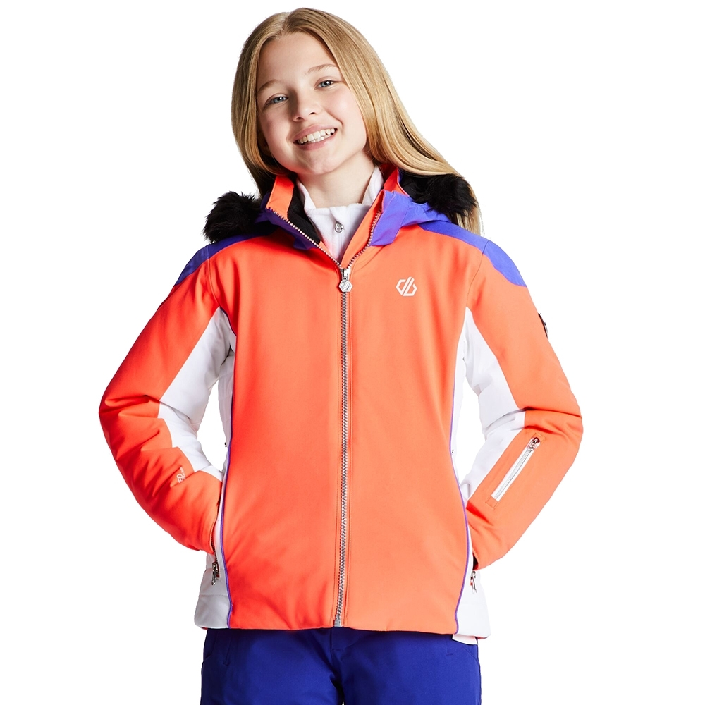 Dare 2b Girls Vast Water Repellent Hooded Ski Coat Jacket 11-12 Years- Chest 28 (71cm)